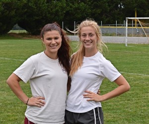 Black Hills seniors Jaylen Corbin (left) and Joslin Lindsay (right) are helping lead the Wolves through team unity and a focus on working together.