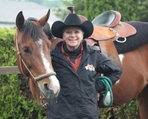 Cheryl Corrigan is a certified P.A.T.H. (Professional Association of Therapeutic Horsemanship) trainer and the Herd Manager for Rainier Therapeutic Riding.