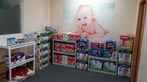 Lance Benson rents an office space on Eastside Street and 11th Avenue SE where families in need of diapers can drop by.