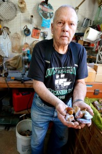 Finding, polishing, and sharing rocks is Ken Nelsen's passion.