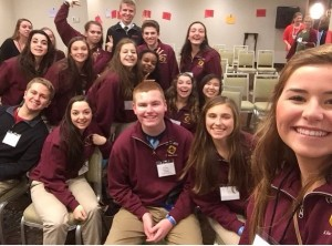 Capital High School's DECA students enjoy a seminar at the Fall Leadership Conference held every year in Seattle.