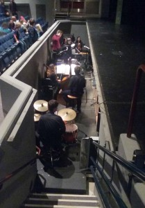 A live orchestra, directed by Grant Sears, accompanies the singers during North Thurston High School's Bye Bye Birdie.