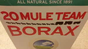 Borax can be found at most stores and is an effective weapon against tough bathroom mold.