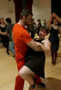 Monty Norris dips his partner during a swing dance night at the Eagles Ballroom in Olympia.