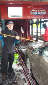 Ryan Taylor is hard at work at Shur Kleen Car Wash where he gets to interact with people and be around cars - a true passion of his.