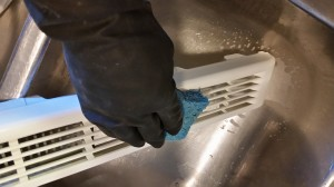 Deep cleaning all parts of your microwave a few times a year, including the vent, can make weekly cleanings much easier.