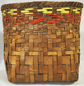 """Traditional Cedar Storage Basket"" by Haila Old Peter (Chehalis)"
