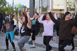 Zumba takes to the streets at the 2015 Spring Arts Walk and will be seen again this year.  Photo courtesy City of Olympia.