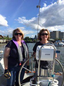 sailing race female team