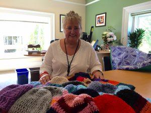 knitting hats donation