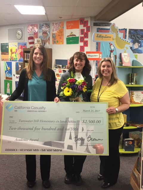 $2,500 Academic Award Will Enrich Tumwater Hill Elementary