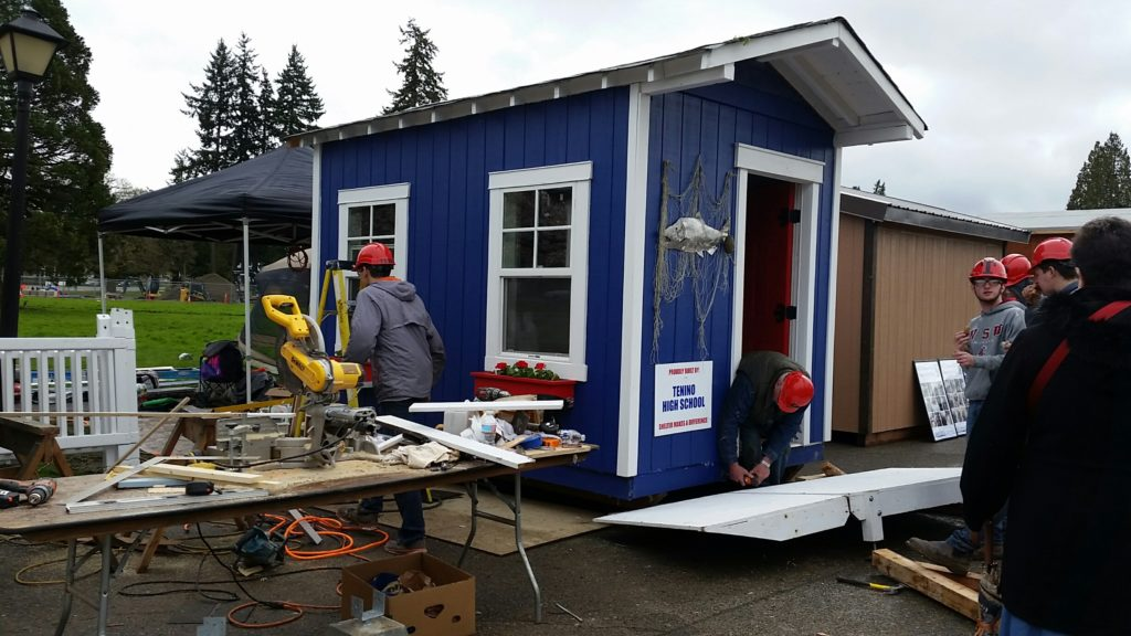 Tenino High School Students Build A Tiny House For A Big