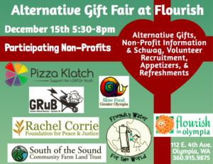 Alternative Gift Fair @ Flourish in Olympia | Olympia | Washington | United States