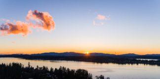 Sunrise over Budd Inlet