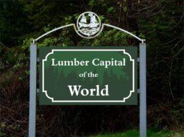 Grays Harbor Logging History Logging Capital of the World sign