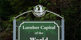 Grays Harbor Logging History Logging Capital of the World sign