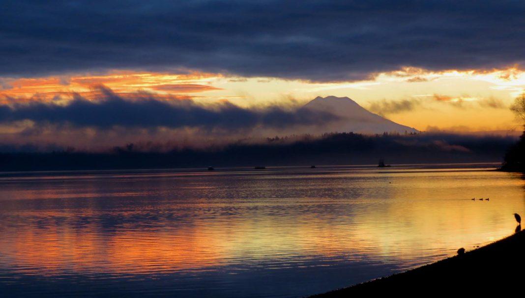 Scenic olympia sunrise
