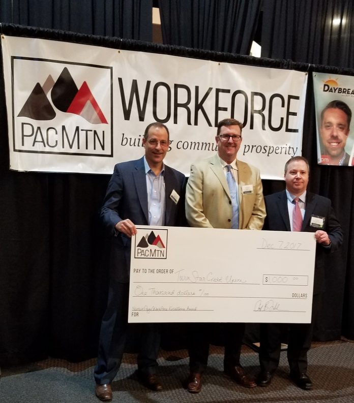 TwinStar Credit Union Accepting Award
