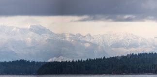 Olympia Mountains, snowy