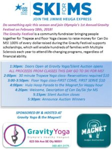 Festival: Fundraising for Ski for MS @ Gravity Yoga | Olympia | Washington | United States