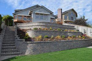 AJB Landscaping & Fence retaining wall
