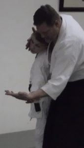 Aikido Olympia Nate Sensei and Alex