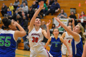 Black Hills girls regional basketball victory over Issaquah