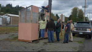 Bucoda Improvement Club Fixing the Bus Shed