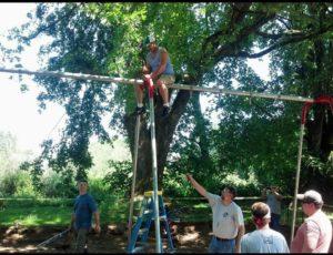 Bucoda Improvement Club Volunteers Swing Set