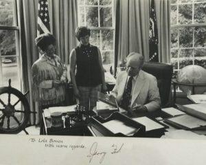 Lola Bowen Stancil 103 years President Ford in Washington DC