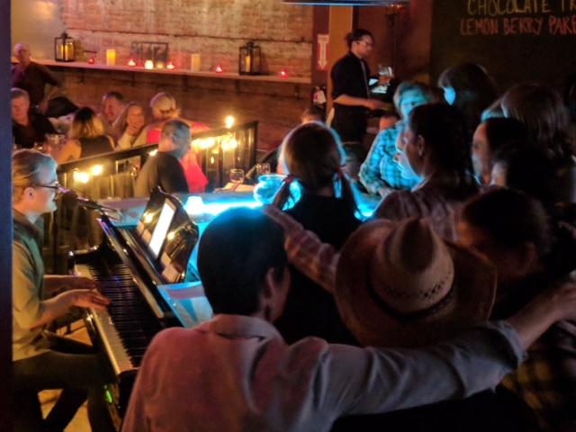 Tipsy Piano Bar Olympia Michael Larson performing