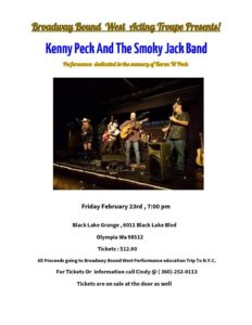 Kenny Peck and the Smoky Jack Band @ Black Lake Grange | Olympia | Washington | United States