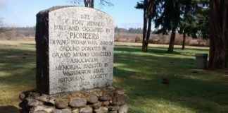 Fort Henness Marker Grand Mound Cemetery