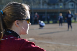 Peyton Uznanski Capital High School fastpitch game
