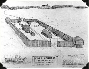Sketch of Fort Henness, Grand Mound