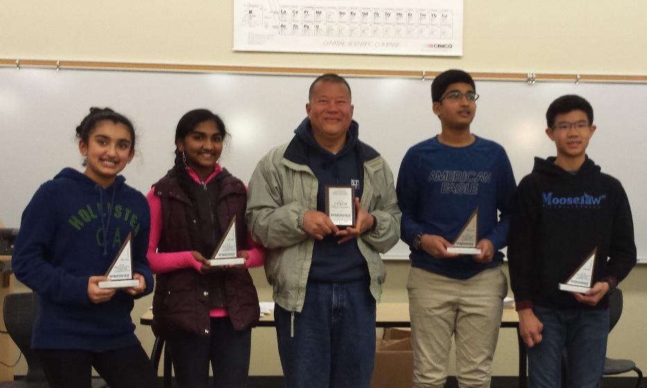 efferson Middle School Mathletes 2018 winners
