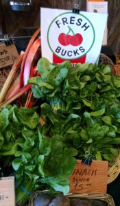 Olympia Farmers Market Fresh Bucks Greens