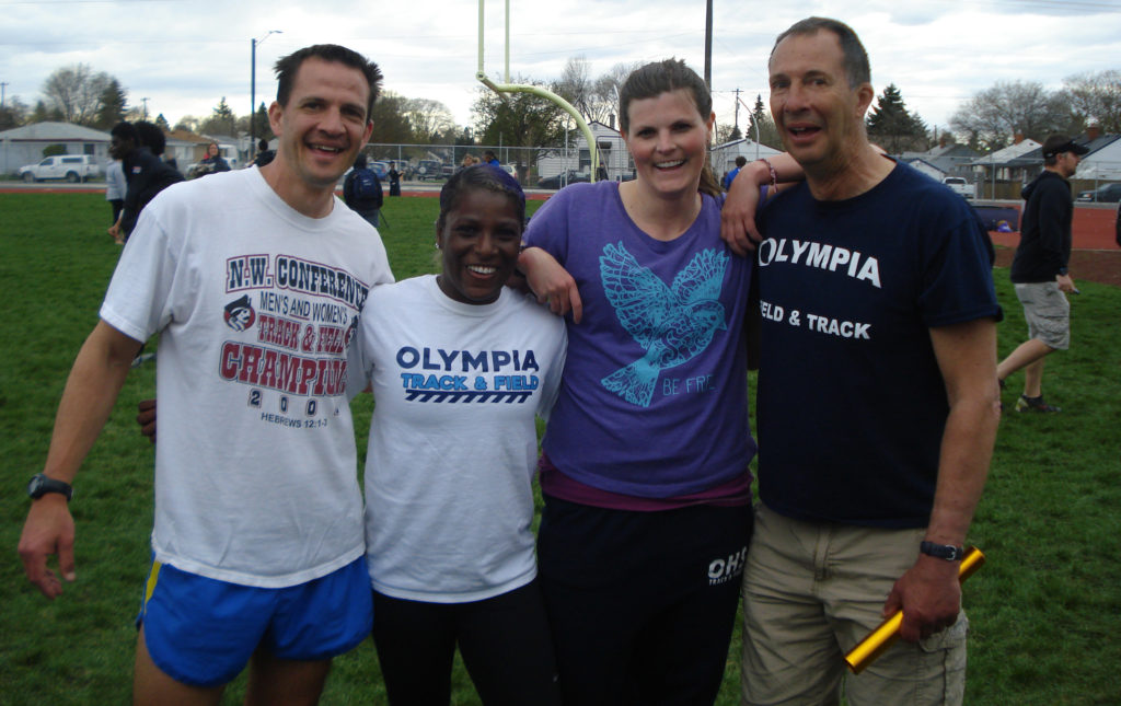 Olympia High School Dr Drew stevick relay team