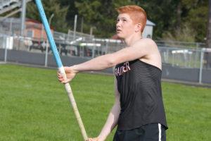 Rainier High School Track 2018 pole vaulting