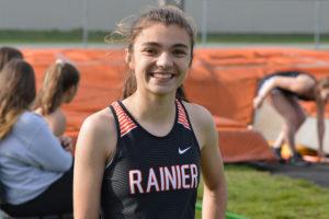 Rainier High School track 2018 Elaina Hansen