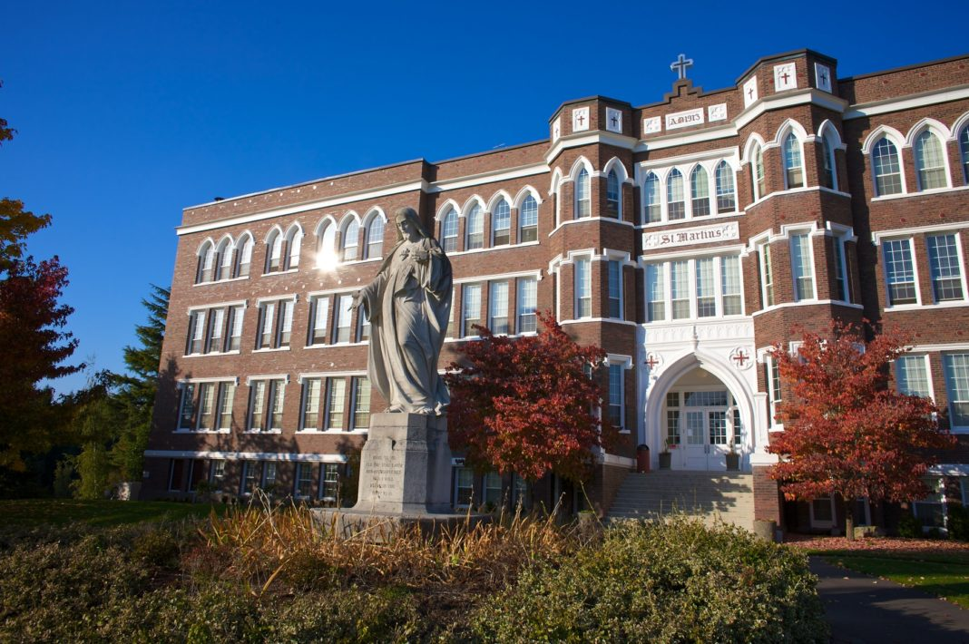Saint Martins University Front of Old Main
