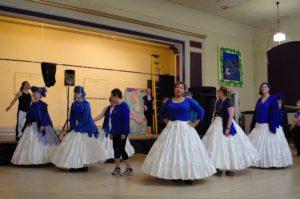 Samba Dancers Wait