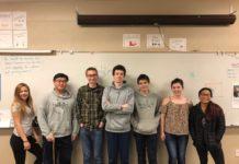 Tumwater High School Knowledge Bowl Club members