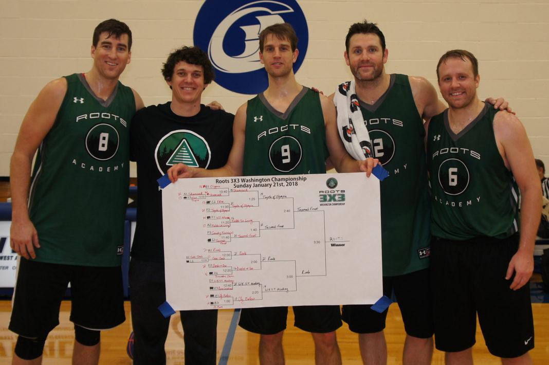 USA 3x3 Basketball Squad Marc Axton, Curtis Medved, Kelly Golob, Ryan McDade and Josh Wilson
