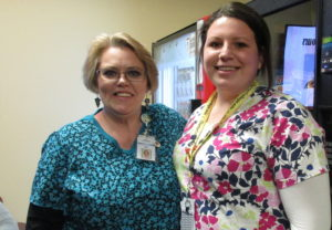 Charter College Teresa Miller with student Brittany Shultz.