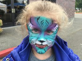 Lacey Spring Fun Fair Face Painting