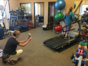 Penrose & Associates Physical Therapy Jennifer Filming Runner