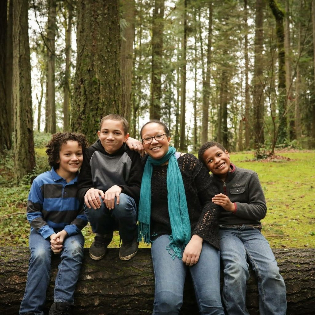 South Puget Sound Habitat for Humanit Crystal Mazzuca and kids