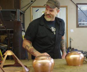 Jimmi Davies Making a Lamp