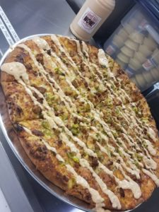 Eastside Big Tom dinosaurs-Chef EL-'s wow sauce pizza